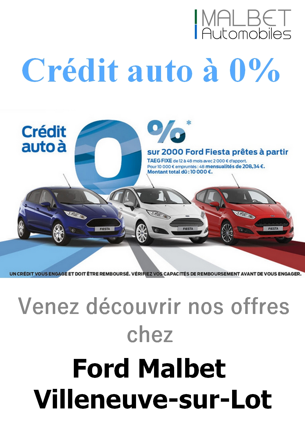 credit auto taux 0 chez ford