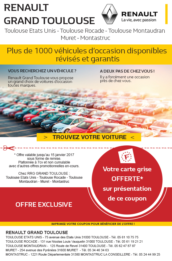 promo voiture d 39 occasion toulouse renault retail group toulouse rocade ouest. Black Bedroom Furniture Sets. Home Design Ideas